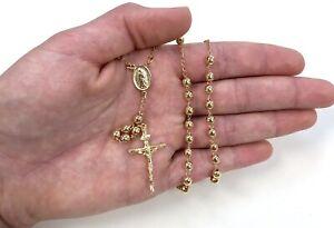 NEW 14k Gold Plated Rosary, Rosario Para Mujer Virgen de Guadalupe, Oro Laminado