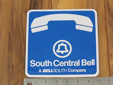 """South Central Bell Telephone Sign Decal 7"""" by 7"""" Double Sided Vintage 1991"""