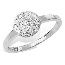 Runde Modeschmuck-Ringe im Cluster-Stil mit Kristall-Hauptstein