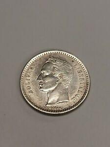 1924-P Venezuela 🇻🇪 Silver 50 Centimos Coin