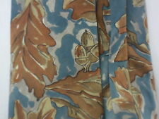 Christian Dior Floral Leaf 100% Silk Necktie Made in USA Fabric Woven in Italy
