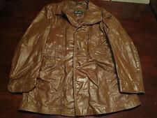 Vtg Mens Grais USA Made Leather Jacket Coat Size 44 Fight Club Rocker Mod Indie