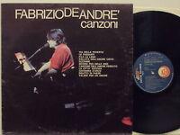 FABRIZIO DE ANDRE disco LP 33 giri CANZONI stampa ITALIANA Orizzonte senza LOGO