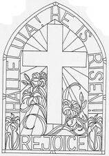Mounted Rubber Stamps, Easter Stamps, Stained Glass Stamps, Cross, Christian