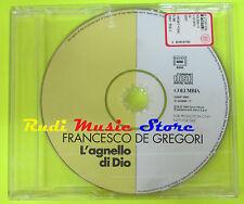 CD Singolo FRANCESCO DE GREGORI L'agnello di dio 1996 PROMO lp mc dvd vhs (S9)