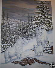 Snowridge Mountain Goats by Christine Marshall Limited Ed ARP Lithograph #10/25