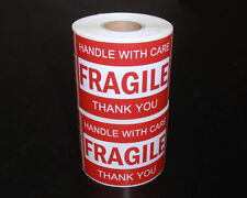 500pcs 76x50mm Fragile Handle With Care Thank You Adhesive Label Sticker Roll