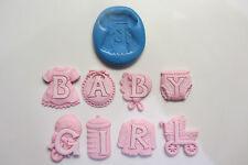 BABY Girl SILICONE STAMPI Sugarcraft, fimo, cibo, torta decorazione cupcakes
