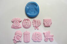 Baby girl silicone moules Sugarcraft, fimo, alimentaire, décoration de gâteaux cupcakes