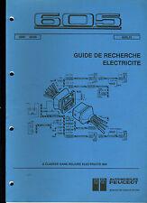 (120) MANUEL ATELIER SCHÉMAS ÉLECTRIQUES PEUGEOT 605 de 09/1989
