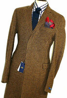 BNWT LUXURY MENS RALPH LAUREN BROWN TWEED POLO WOOL COAT OVERCOAT JACKET 46R
