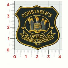 "Constable Police New Jersey)Essex County Uniform Shoulder Patch Badge 4""X 4""NEW"