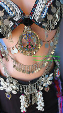 "Cowry Shell Belt Gypsy Tribal Fusion Belly Dance Size Large 36 "", ATS  Gothic"