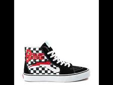 NEW Vans x David Bowie Sk8 Hi Skate Shoe Black White Red Size 11
