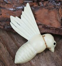 Vintage Brooch Pin Celluloid Hawkmoth Bug Insect Costume Jewellery Jewelry