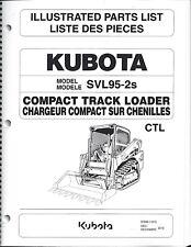 Kubota SVL95-2S Compact Track Loader Illustrated Parts Manual 97899-11610