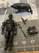 GI JOE COBRA Black Major 1985 Snake Eyes With Timber Lot Black Prototype Mint