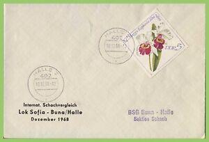 Germany DDR 1968 Chess Championship, Lok Sofia - Buna/Halle commemorative cover
