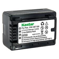 1x Kastar Battery for Panasonic VW-VBT190 VX981K HC-W580 W580K HC-W850