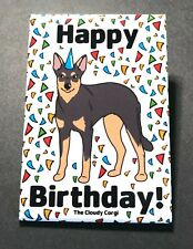 Australian Kelpie Happy Birthday Magnet Handmade Dog Gifts Home and Locker Decor