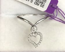 18k Solid White Gold Gorgeous Moving Heart Diamond 0.15CT Ring. Price $1,250.
