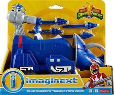 Imaginext POWER RANGERS BLEU-Ranger et Triceratops Zord