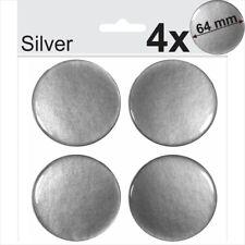 4x 64mm Silver Domed Resin Centre Cap Hub Stickers Wheel trims Caps Badge Emblem