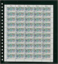 10 Lindner 020P Omnia Fiches de Stock Bogenblatt Noir 2x 262x305 MM