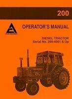 Allis Chalmers 200 Diesel 200 - 4001UP Operators Manual