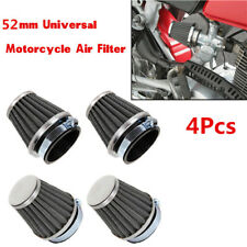 4Pcs 52mm Tapered Pod Motorcycle Scooter Air Filter Clean Mushroom Head Cleaner