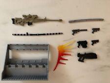 New ListingHasbro Marvel Legends Gi Joe Classified Weapons Accessories Lot Guns Rifle Rack