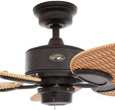 """Hampton Bay 48"""" Gilded Iron Indoor Outdoor Ceiling Fan Plastic Blades Damp Brown"""