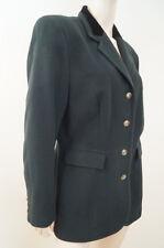 DRESSAGE BY PAUL COSTELLOE Olive Green Wool & Black Velvet Blazer Jacket UK16