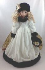 "Seymour Mann Porcelain Award Winning Doll ""Charity"" with Muff, Hat, & Cape"