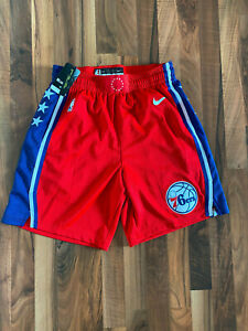 Nike NBA Shorts Philadelphia 76ers | Rot | Größe M | NEU