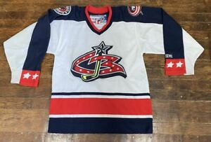 Columbus Blue Jackets NHL Hockey CCM Sports Jersey Size Small