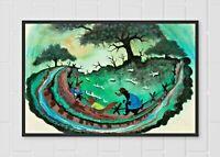 Song of the South Brer Frog Brer Rabbit Mary Blair Concept Art Poster Print