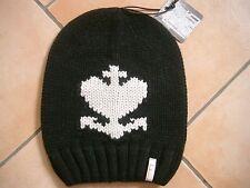 (M71) Grobstrick Mütze FREAKY HEADS Beanie Wintermütze GLH Motiv & Logo Aufnäher