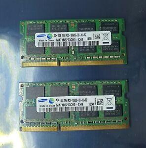 Samsung 8GB 2X4GB DDR3 2RX8 1333MHz PC3-10600S 204pin Laptop Memory RAM Apple