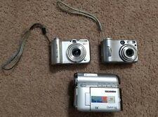 Camera Lot: Canon PowerShot A630 Sony DSC S60 & Samsung SC D353 Camcorder