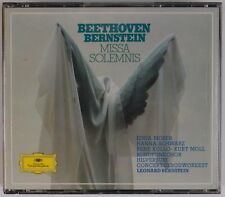 BEETHOVEN: Missa Solemnis, Bernstein DGG West Germany FS 2x CD NM