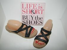 Crocs Black Wedge Heel Strappy Sandals - 9 EUC