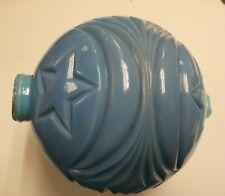 Vintage Blue Milk Glass Moon & Star Lightning Rod Ball Globe