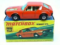 Matchbox Lesney No.62e Renault 17 TL In Type 'I1' With 'NEW' Box