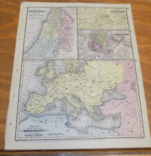 shown in 1572 1965 VINTAGE MAP #31 HOLY LAND SYRIA ARABIA Art Print Lithograph