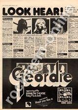 Geordie Hope You Like It EMC 3001 Rainbow Theatre MM3 LP/Tour advert 1973