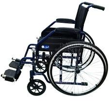 Carrozzina pieghevole disabili e anziani seduta 46 cm Moretti