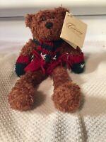 Christmas Around The World Bertram -FINE TOY Talking Teddy Bear. NWT READ