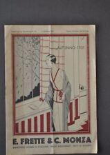 Cataloghi Biancheria Tessuti Maglieria Intimo Casa Frette & C. Monza 1931