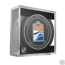 Edmonton Oilers 2016-17 Inaugural Season Rogers Place Official Game Puck w/Cube